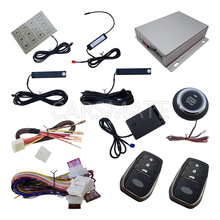 Intelligent PKE Car Alarm System With Vibrating Alarm Remote Start Push Button Start Engine Password Entry Auto Central Lock(China)