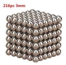 hot sale 216pcs Silver Color Magic Cube Balls Toys Anxiety Stress Adults Kid Metal Toy free shipping(China)