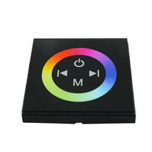 Wall Mounted DC12 - 24V 4A * 3CH LED RGB Touch panel Full Color Controller For 5050 3528 RGB LED Strip Lights