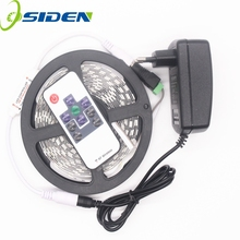 OSIDEN High Quality DC12V 3014 LED Strip Light 5m/roll 300led  flexible bar light +RF Controller+2A Power Supply Home Decoration