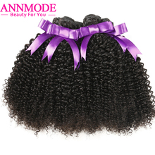 Annmode Afro Kinky Curly Hair for a pc 100g Natural Color 8-28inch Brazilian Hair Non-remy Human Hair can buy 3 bundles or 4 pcs(China)