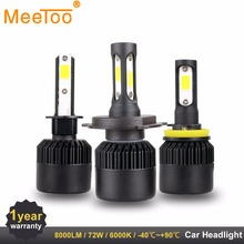 2PC LED Car Light H7 H4 LED H1 H3 HB4 9005 9006 9012 Headlight Driving Passing Beam Fog Light Replacement for Cars Headlamp(China)