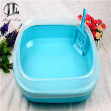 5 Piece / Set Wholesale New High Quality Plastic Material Portable Pet Cat Litter Box High Side Convenient Clean Litter Pot(China)