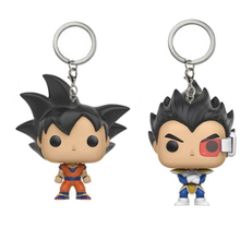 2017 New Anime Dragon Ball Z Super Saiya Goku Vegeta Action Figure Keychin Toys Game of Thrones Jon Snow Dragon Car Key Chain