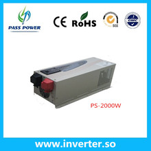 Factory sell  low frequency  pure sine wave 2000w  solar inverter charger & ups with wire control ,one year warranty !