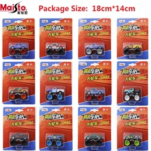 MaiSto Boxed Maisto Big truck  Pull Back Dodge Hummer Alloy car model toys for children With shock absorbers