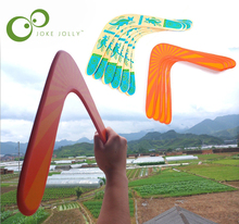 1 piece Wooden Boomerang high quality classic V shape Frisbee Flying Saucer Toys 40 meters Popular child outdoor toys GYH(China)
