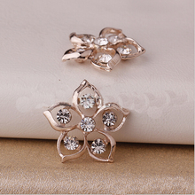 HBC173 20*20MM Flat Back Rhinestone Embellishment Decoration Buttons