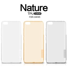 Xiaomi Mi5 case TPU cover NILLKIN Nature TPU Transparent Clear Soft Back cover Luxury brand with retailed package