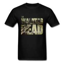 T-shirt Male Short Sleeve The Walking Dead t shirt Men Movie Logo Colthing Novelty Graphic Tees Shirt Plus Size