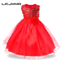 LCJMMO New Girls dress Baby Princess Dresses Summer Party New Year Clothes for girls Sleeveless Flower Wedding Christmas dress