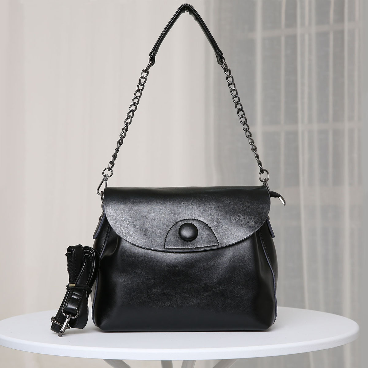 2017 New Simple 100% Genuine Leather Ladies Bags Female Shoulder Bag for Women Handbag Casual Retro Women\s Messenger Bags<br><br>Aliexpress