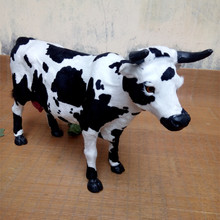 large 50x32CM cow,dairy cow model,polyethylene&furs handicraft Figurines home decoration toy gift a2710
