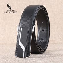 New men's brand designer belts for male straps cowhide Genuine leather white black smooth buckles ceinture cinturones hombre(China)