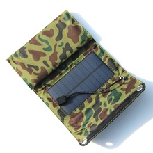 New 5V 7W Foldable Solar Panel Cell Folding External Battery Solar Charger Portable Power Bank USB Mobile Chargers for Phone(China)