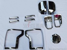 For Ford F150 2015 2016 Chrome Trim Kits Package Door Mirror Handle Fuel Tank Cover FogligtCar Chromium Styling Accessories