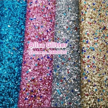 4pcs A4 21x29cm  Chunky Glitter Leather Mixed Color Glitter Fabric for  shoes handbags and DIY GM096a