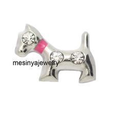10pcs red clay dog floating charms for glass locket  Min amount $15 per order mixed items, FC-506