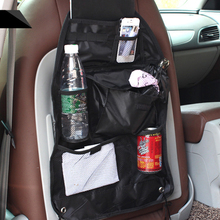 1pcs Car Seat Bag Storage Organizer Bag Multi Pocket Arrangement Bag Back Seat Chair Car Styling Backseat Cover Organiser New(China)