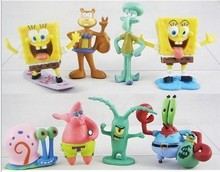 8PCS/lot Dropshipping Wholesale/retail NEW Spongebob figure toy doll for kids gift Figure Cute Toy for kids christmas gift