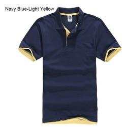 Мужская хлопковая рубашка-поло с коротким рукавом