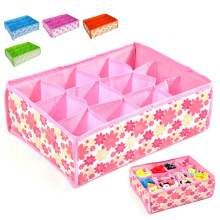 Non-Woven Fabric Folding 12 Grid Storage Box For Bra,Underwear,Socks 32*25*10CM Clothing Organizer 301-0467