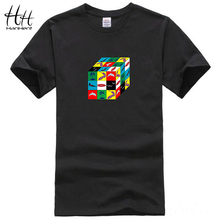 HanHent Summer Surfed Cube Print Men T shirt Fashion Casual Funny Shirt For Man Top Tee Hip-hop Streetwear T-shirts Boys TH5343(China)