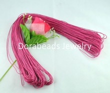 Doreen Box Lovely 80M Wholesale Fuchsia Waxed Cotton Necklace Cord 1mm (B08088)