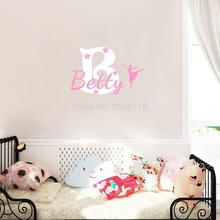 Customer Made Girls Name Decals Personalized Stars and Crown Vinyl Mural Stickers for Kids Room Decoration
