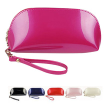 2017 new fashion women wallet patent leather candy color clutch bag Preppy lovely coin handbag shell red black white wallet