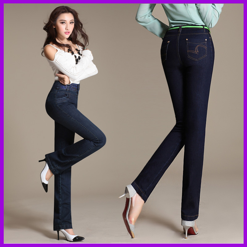 Fall and winter clothes womens jeans embroidered waist stretch pants feetОдежда и ак�е��уары<br><br><br>Aliexpress
