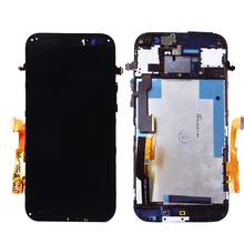 Black For HTC ONE M8 LCD Display Touch Screen Digitizer with Bezel Frame Full Assembly Free Shipping+Tracking No.