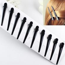 10pcs Metal Hairpin Single Prong DIY Hairstyle Alligator Hair Clip Black(China)
