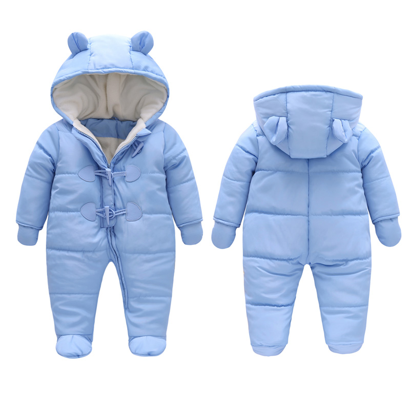 Cold Winter Rompers Baby Clothes Children Boys Girls Jumpsuit Kids Duck Down Cotton Overalls snowsuit Hoodies Parka Clothing<br>
