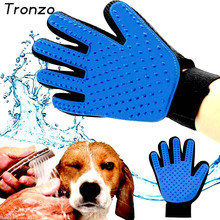 Tronzo 1Pcs Pet Cleaning Brush Glove Grooming Magic Deshedding Dog Shop Accessories True Touch Massage Hair Removal Supplies