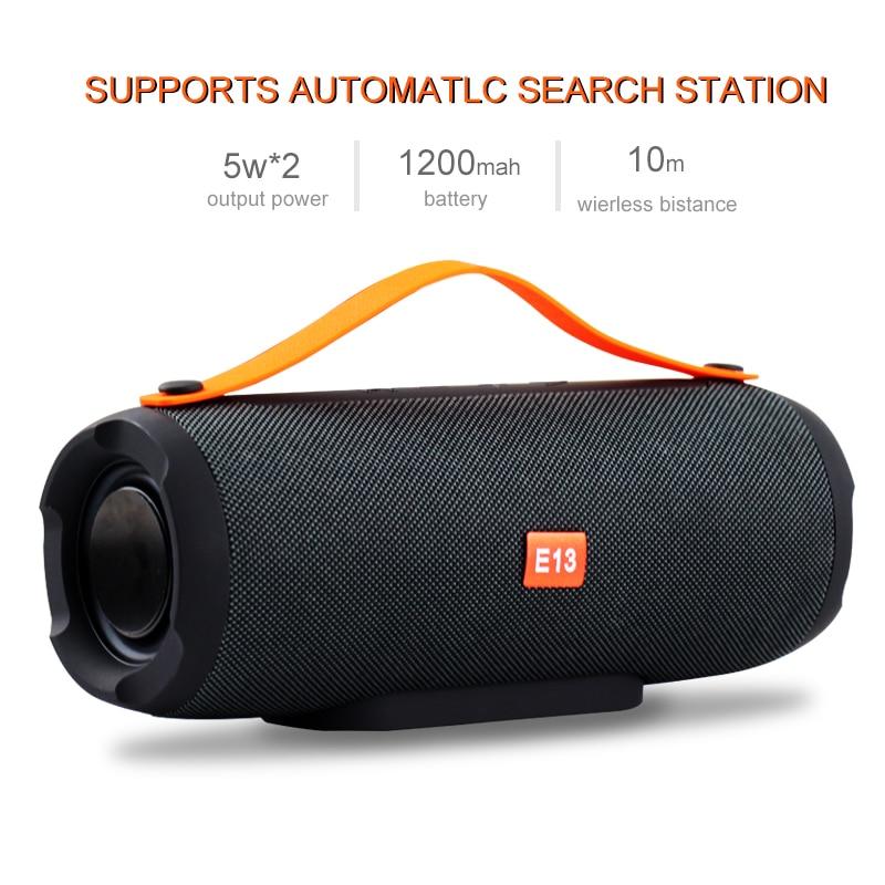 E13 Mini Portable Wireless Bluetooth Speaker Stereo Speakerphone Radio Music Subwoofer Column Speakers Computer TF FM