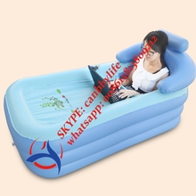 High Quality Adult SPA Inflatable Bath Tub/Portable Thick PVC Folding family bathroom Inflatable Spa Pool With Cupholder(China)