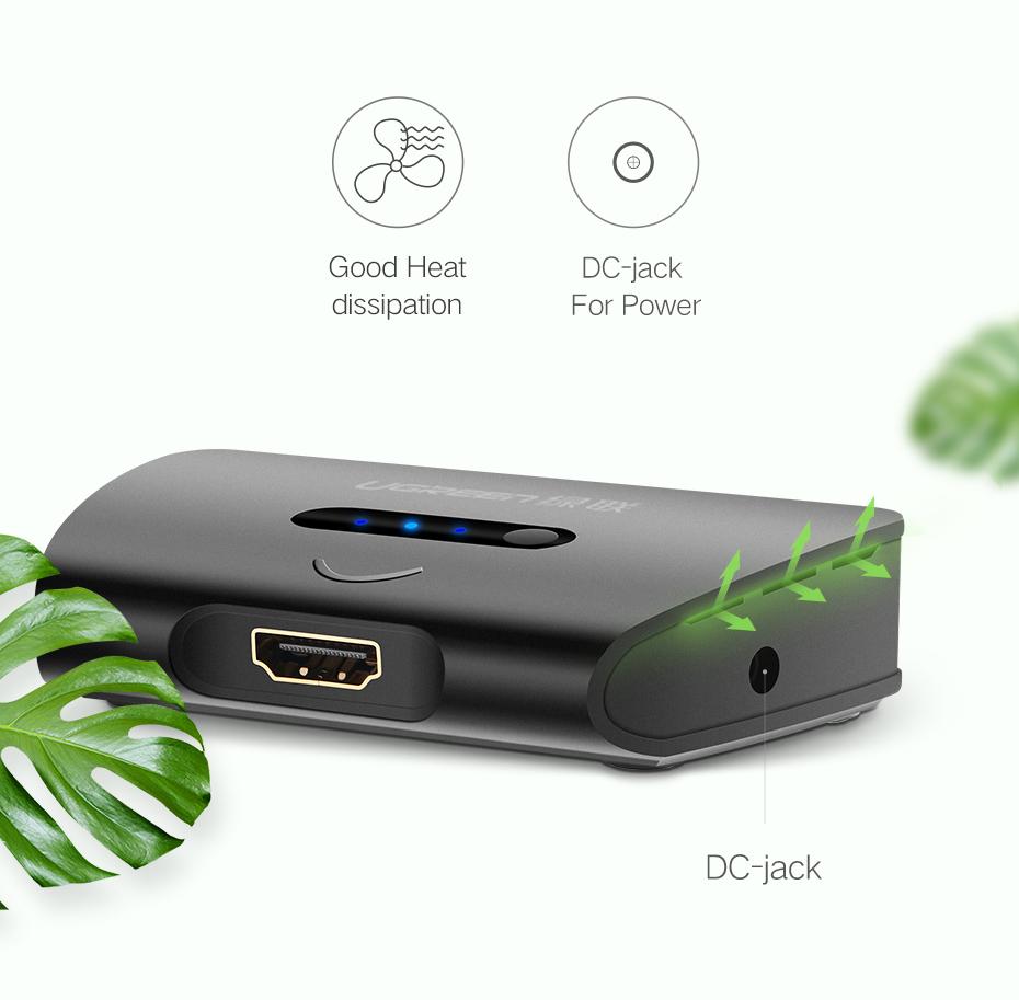 Ugreen 3 Port HDMI Switch Switcher HDMI Sp
