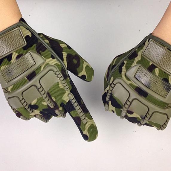 Full finger gloves, silica gel, outdoor mountaineering training, riding and non slip wear<br>