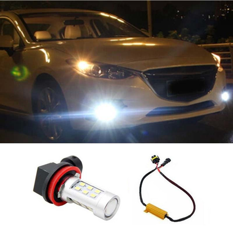 1pcsH11 H8 No Error Fog Light Driving DRL Car Light for Mercedes-Benz BMW Audi Car styling<br><br>Aliexpress