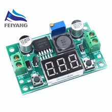 1pcs LM2596 DC 4.0~40 to 1.3-37V Adjustable Step-Down Power Module + LED Voltmeter DC/DC