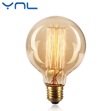 Buy YNL 40W Retro Vintage Edison Bulb E27 Filament G95 Edison Bulb Light Warm White 220V Antique Incandescent Bulb Pendant Lamp for $3.81 in AliExpress store