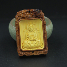 2017 new collection Car decoration jewelry Buddha car pendant Boxwood craft  ornaments Fengshui gift Buddhist prayer beads