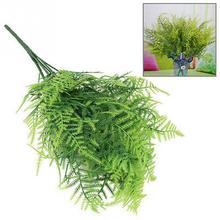 New Wholesale Price Plastic Green 7 Stems Artificial Asparagus Fern Grass Bushes Flower Bonsai Home Garden Floral Accessories