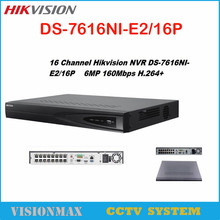 Buy Hikvision DS-7616NI-E2/16P 16CH 16POE Network NVR 2SATA H.264 HD 8MP 6MP Onvif Embedded Plug Play Video Recorder CCTV camera for $384.00 in AliExpress store