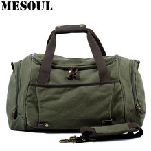 Men Duffle Bag Canvas Carry On Weekend Bag Male Tote Overnight Multifunction Military Large Capacity Casual Luggage Travel Bags(China)