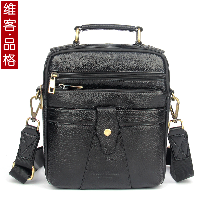new style genuine leather small messenger bags for men crossbody shoulder bag cowhide handbags male<br>