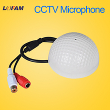 LOFAM CCTV Microphone Wide Range Audio MIC Mini Microphone voice sound pick up device for CCTV Security camera DVR
