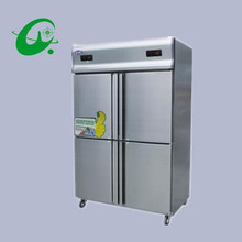 GD1.0L4ST kitchen refrigerator,Four pairs of brass machine double temperature freezer(China)