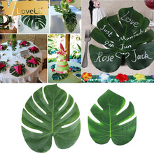 12pcs Artificial Leaf Tropical Palm Leaves Simulation Leaf for Hawaiian Luau Theme Party Decorations Home garden decoration(China)
